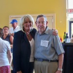 Ch. 5's Susan Wornick and Dr. Neal Andelman at The Bridge Center's Golf Classic.
