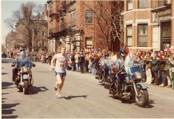 Bill Rodgers in the 1975 Boston Marathon