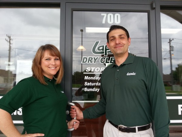 photo of Stacey and Brian Culver, owners of Lapels Dry Cleaning of Edmond