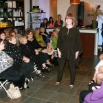 Local makeover contest winner Colette Maillett shows off her new look at Makeovers Salon + Spa 'Fashion for a Cause' event.
