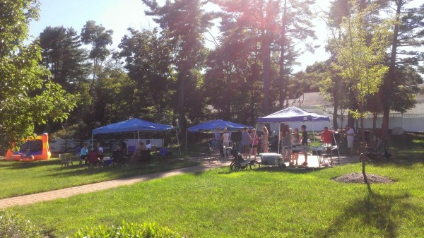 Maplewood Estates, located in Rockland, Mass., hosts its first block party for residents