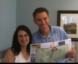 Owners of Resort Maps's New Brunswick, New Jersey map, Rosanne and Robert Tona