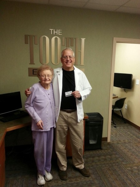 The Toothboss, the South Weymouth dental practice of Dr. Richard Wolfert, DMD, honors Weymouth resident Ruth Anderson with the Smiling Neighbor award.