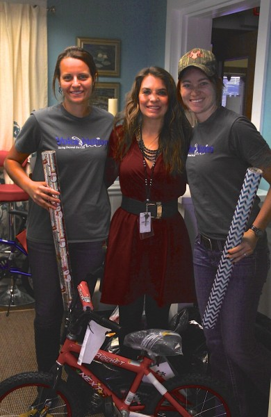 L to R - LeeAnna Channell, VoiceNation's Marketing and Video Assistant with Ashley Anderson, Executive Director of SAFFT and Amber Mooney, VoiceNation's Outreach Coordinator.