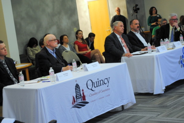 Warren F. Baker of Baker, Braverman & Barbadoro, P.C. sits on judges panel for Quincy Center for Innovation's Quick Pitch Competition