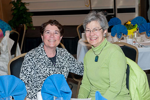 L to R - Diana DiGiorgi, Executive Director of OCES and Joan Thompson-Stein, volunteer.