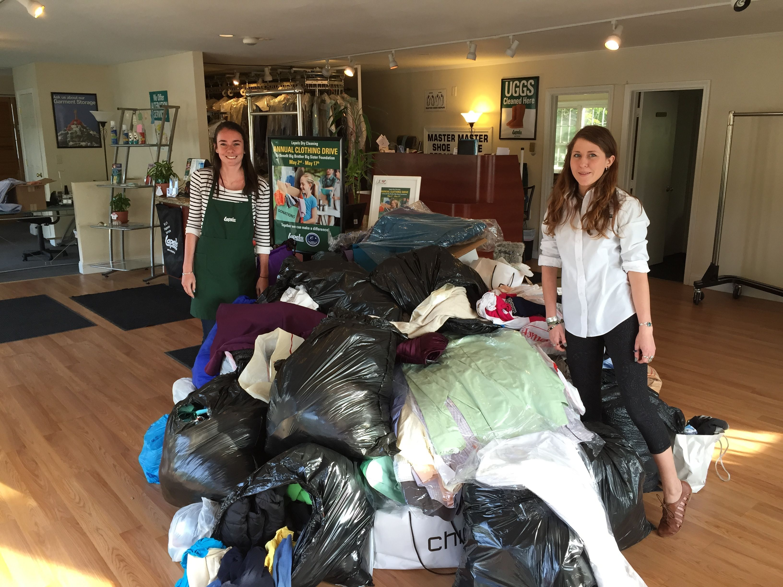 Lapels Dry Cleaning kicks off annual clothing drive to benefit Big Brother/Big Sister on May 7.