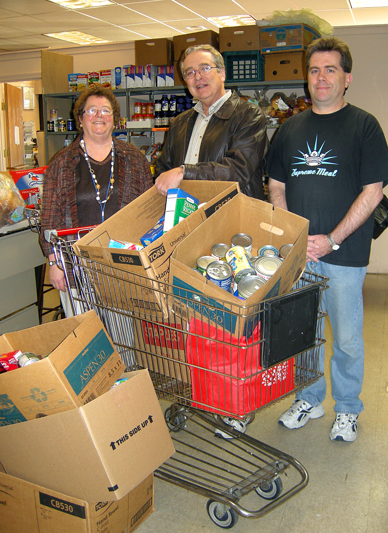 Old Colony Elder Services Employees Hold Canned Food Drive for The Charity Guild