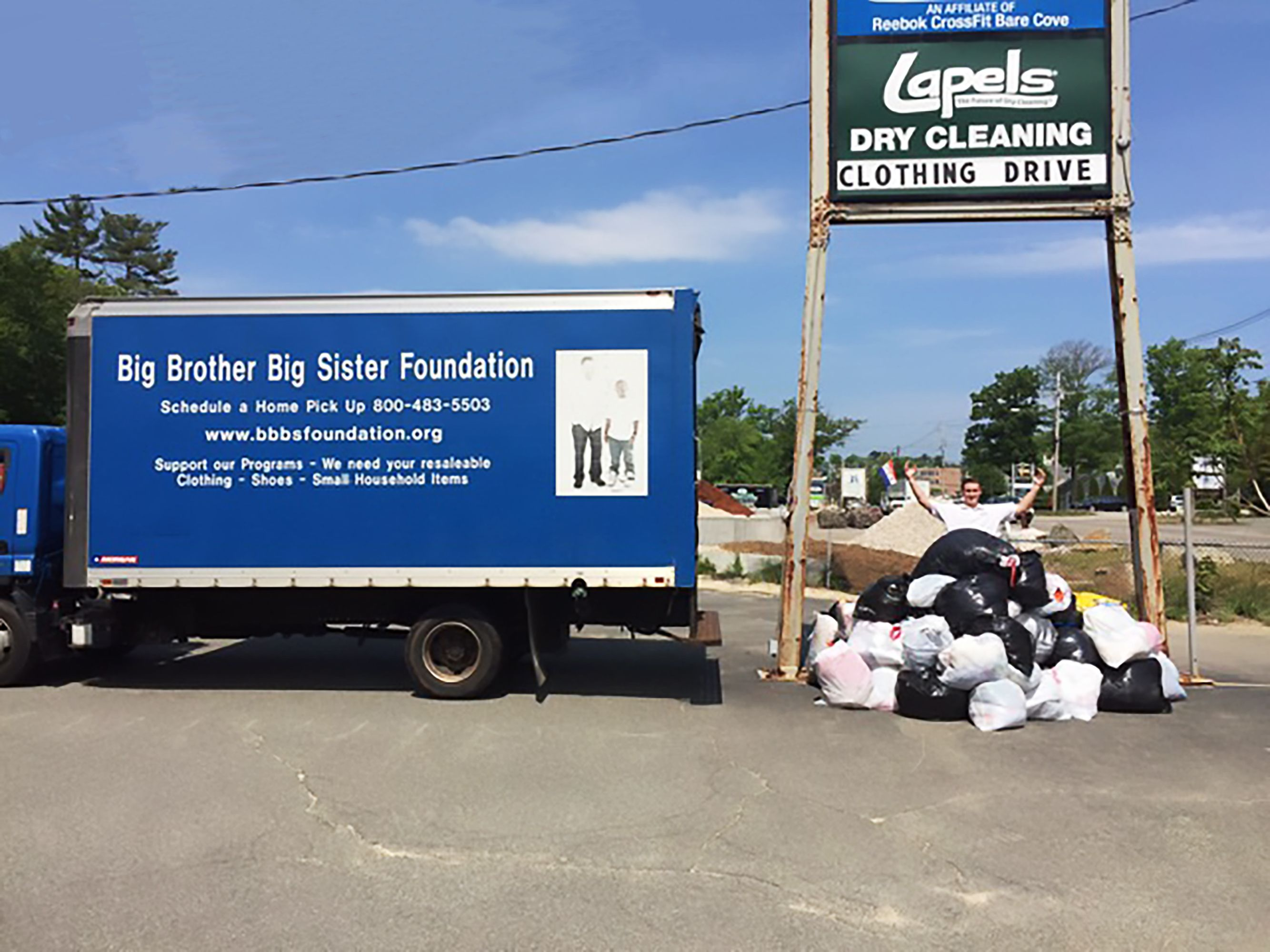 photo of Lapels Dry Cleaning clothing drive