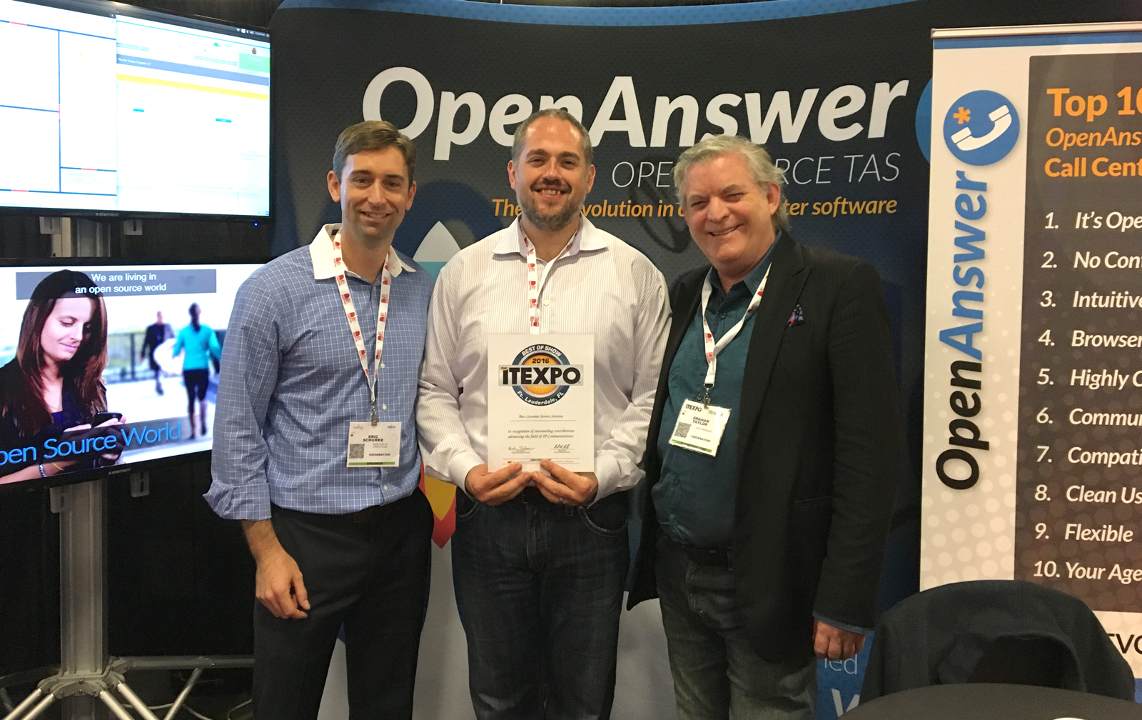 """VoiceNation Captures """"Best of Show"""" Award at ITEXPO Florida 2016"""