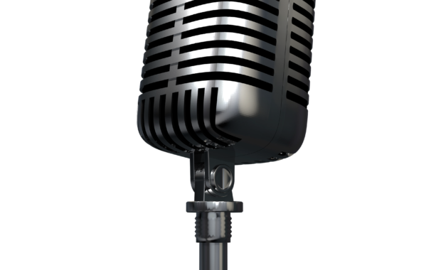 photo of a podcast microphone